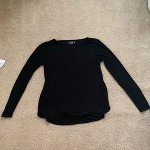 Black LOFT long-sleeve shirt